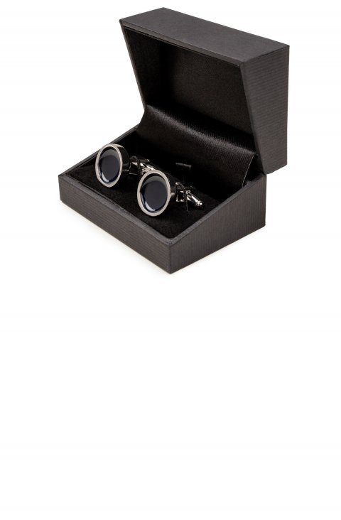 Plain Blue Cufflinks 6273.1.Blu