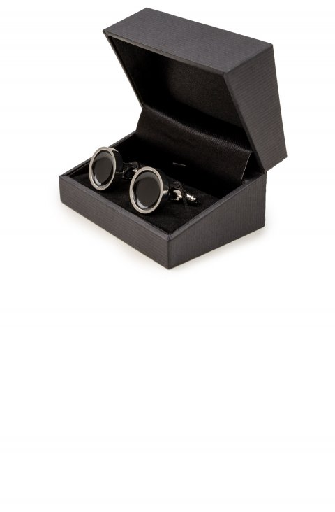 Plain Black Cufflinks 6273.1.Ner