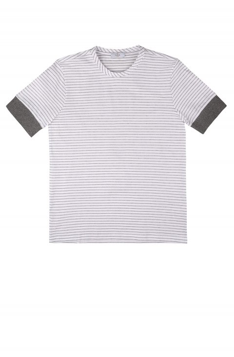 white striped cotton t-shirt TAILOR Italian Wear