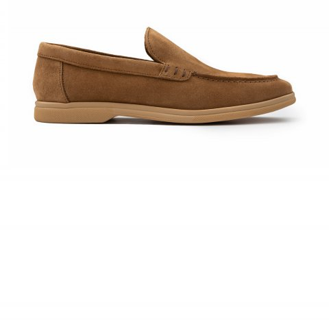Loafer Beige Shoes 2567.Mocassino.Roccia