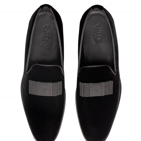 Loafer Black Shoes 1822.Bow.Nero