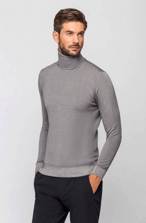 Grey Knitted Sweater Magciclidv.Aci.Grigio