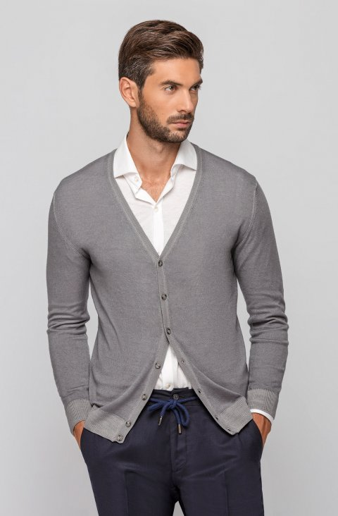 Knitted Grey Sweater Magcarddv.Aci.Grigio