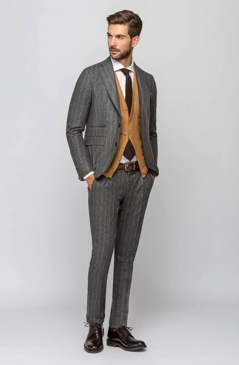 Striped Grey Jacket Vob388.1.2