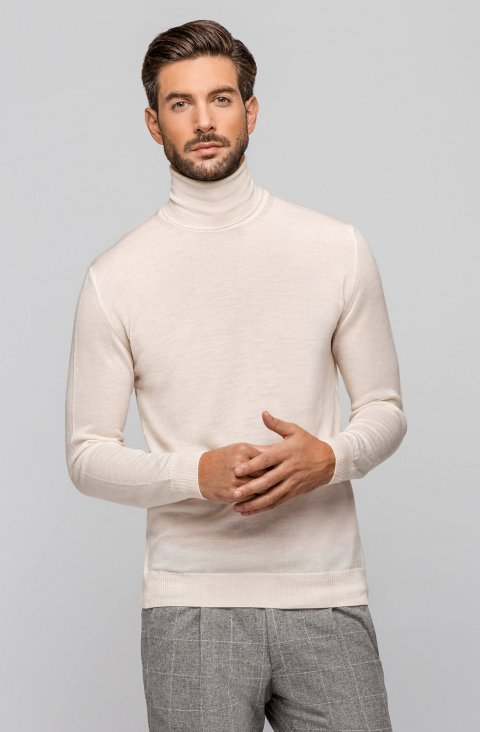 White Knitted Sweater Magciclidv.Aci.Bianco