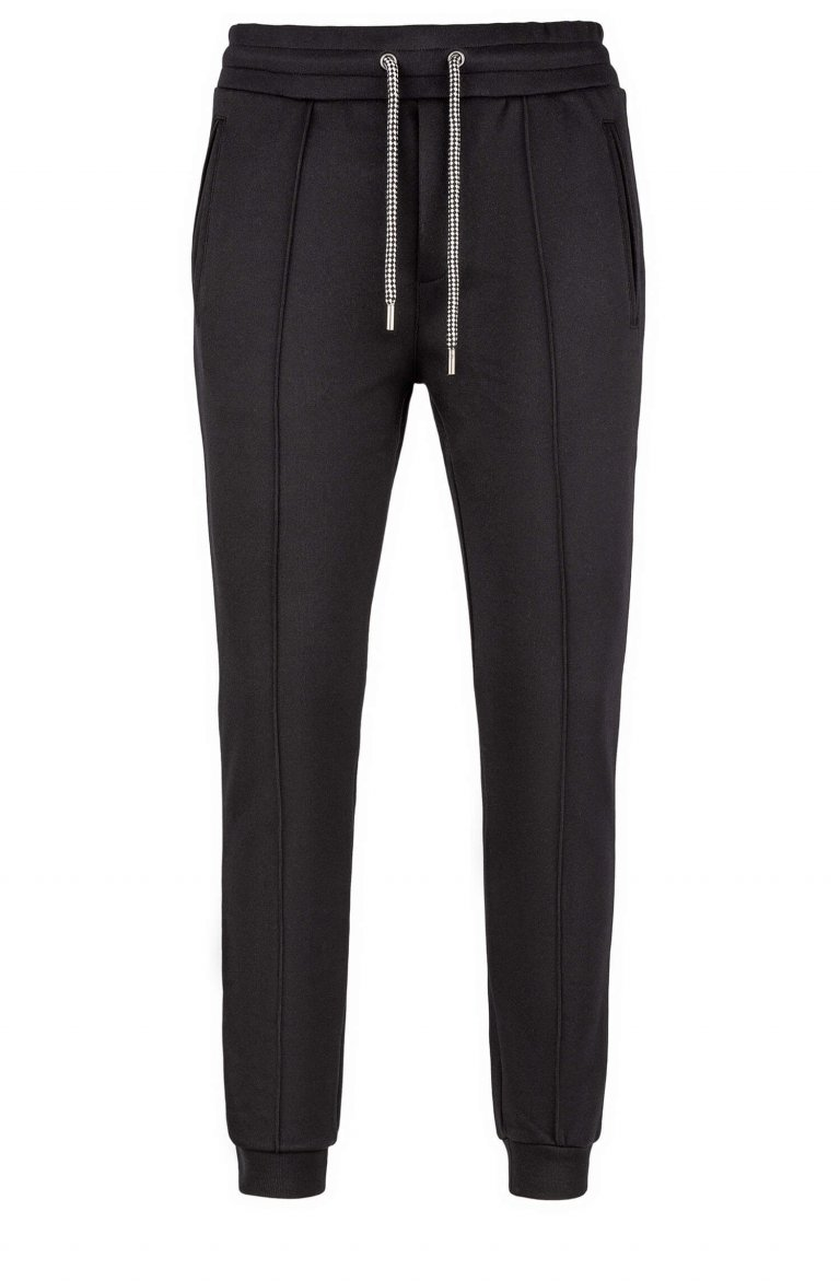 Plain Black Sweat Pants Ma23360.900.1