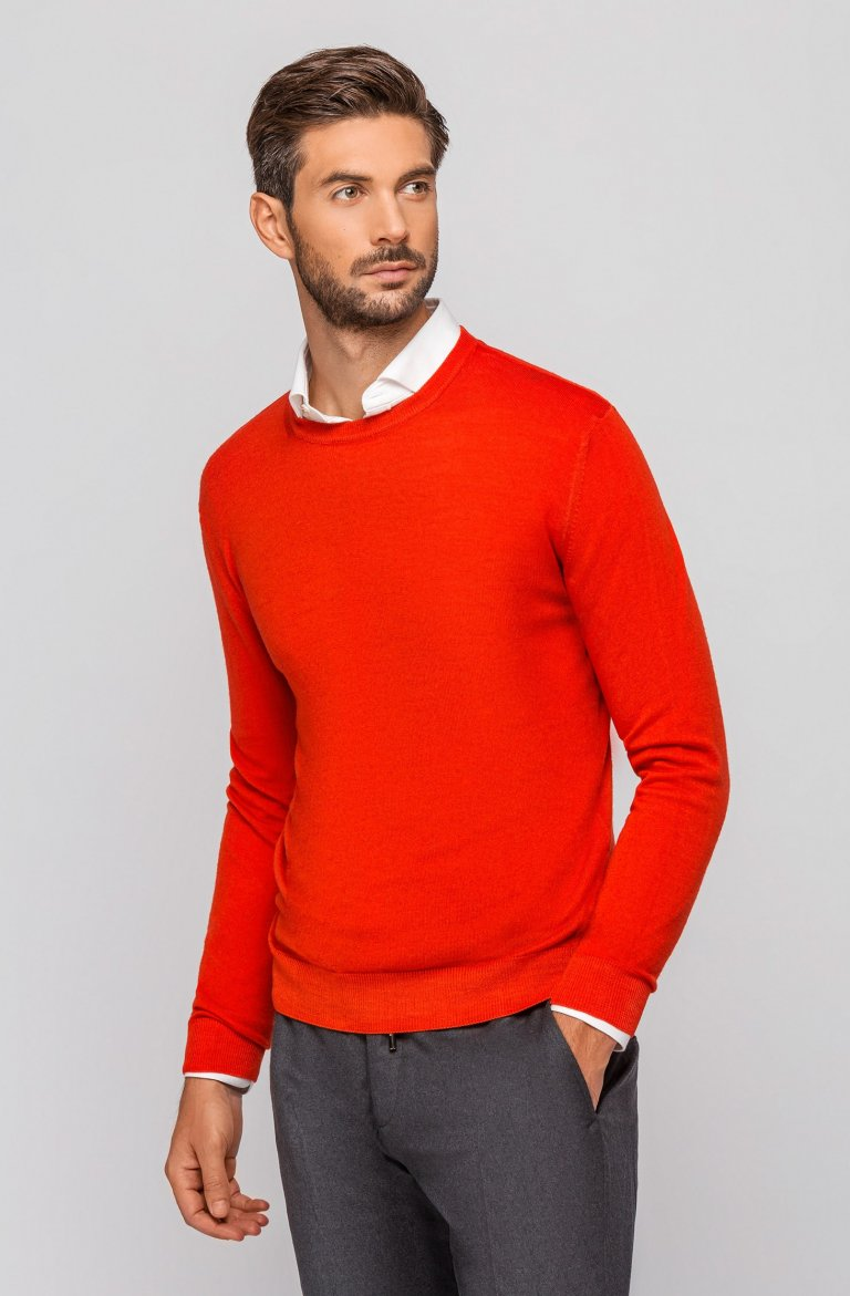 Knitted Coral Sweater Maggirodv.Aci.Corallo