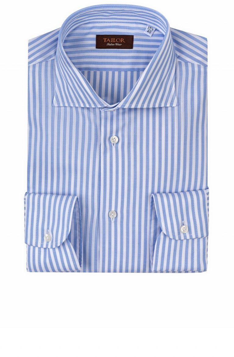 Stripe Blue Men's Shirt Cfiabyog35.1.13