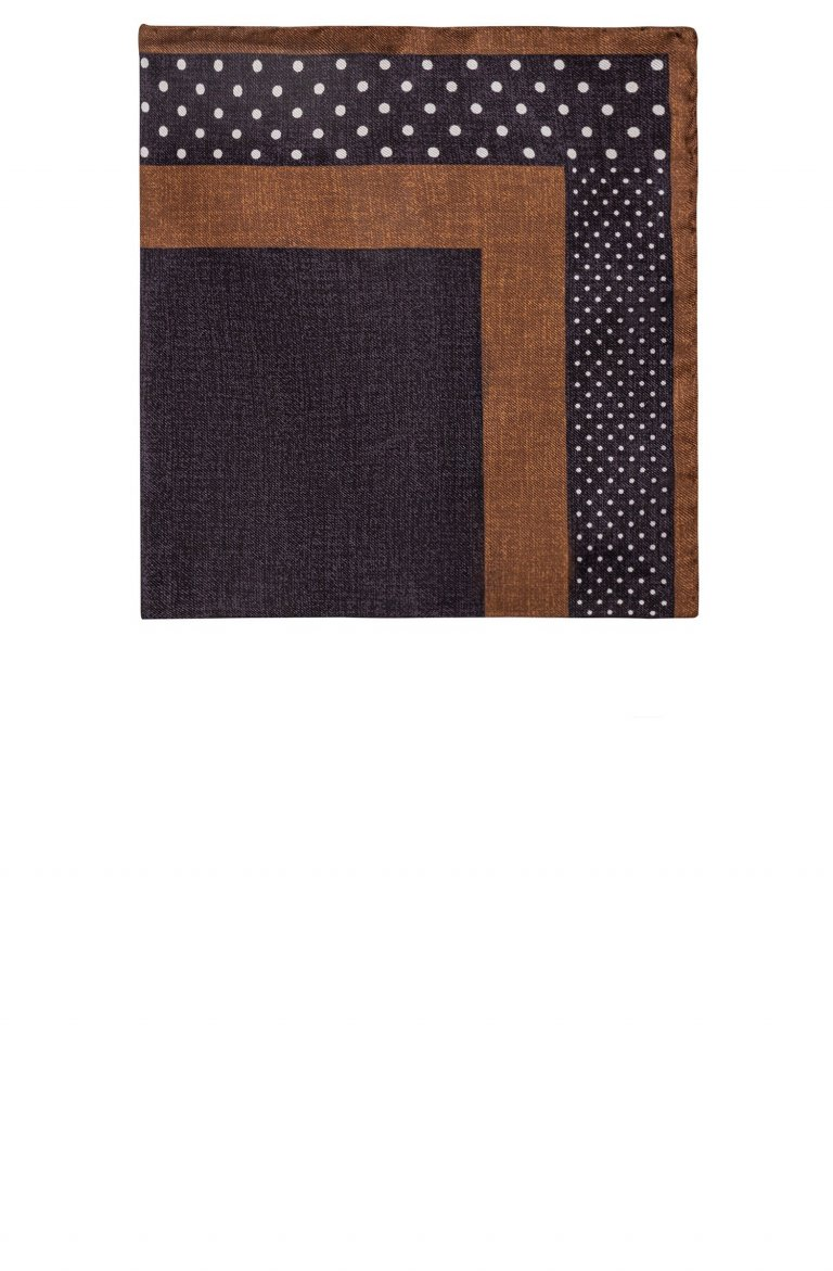 Print Navy Pocket Square Mo5272.2.3