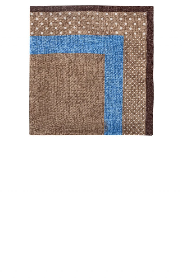 Print Brown Pocket Square Mo5272.2.2