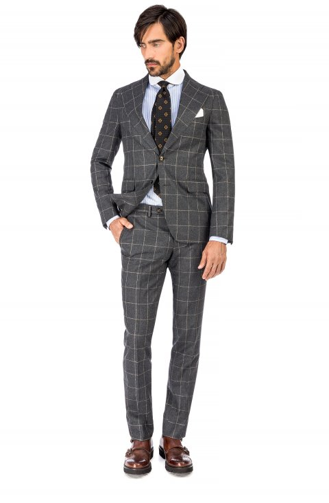 Check Grey Suit Vb99.5154.1