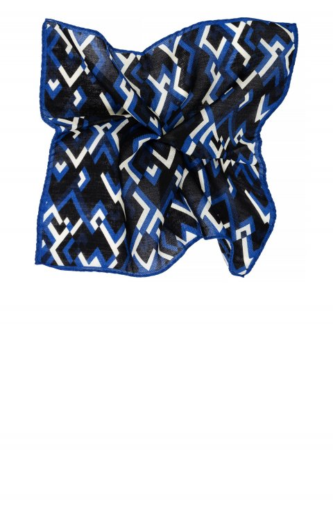 Print Blue Pocket Square 4231.426.3