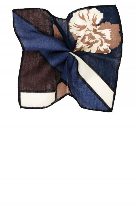 Print Blue Pocket Square 4231.2244S.2
