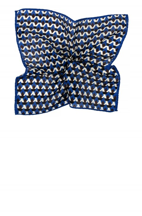 Print Blue Pocket Square 4231.427.7