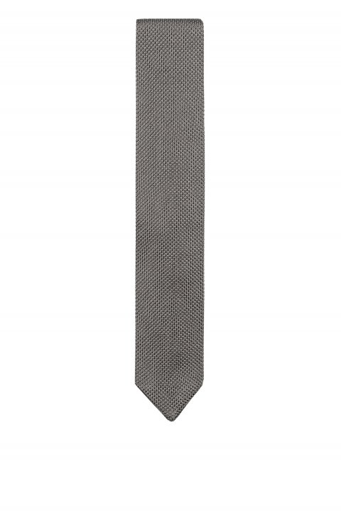 Knitted Grey Tie Mcp65146.P18.302